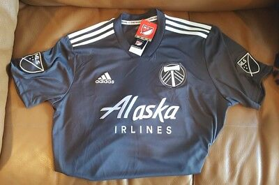 promo code 13d38 455a6 ADIDAS PORTLAND TIMBERS Black 2018 MLS Parley Jersey