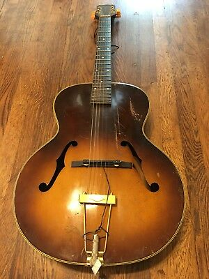 1940's/50's Silvertone archtop Acoustic Electric Guitar