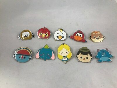 Lot of 10 Disney Tsum Tsum Pins
