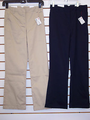 Girls Arrow Navy Adjustable Waist School Uniform Pants Size 10