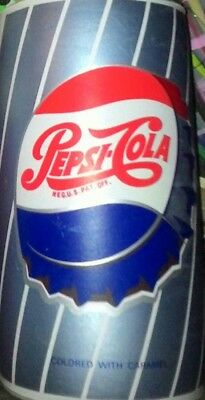 "1960s PEPSI COLA INFLATABLE SIGN CAN DISPLAY,12 "" TALL,EXCELLENT,FREE SHIPPING !"
