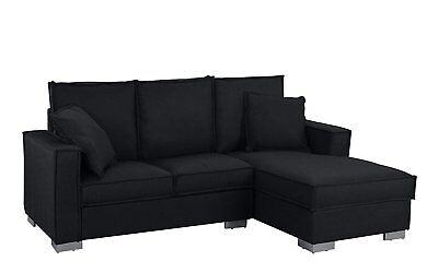 Classic Fabric Sectional Sofa Small Space L Shape Couch W Chaise