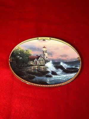 Thomas Kinkade Hopes Cottage Limited Edition Oval Wall Hanging Plate