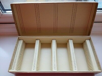 Strong cardboard Slides storage box for 100 slides.