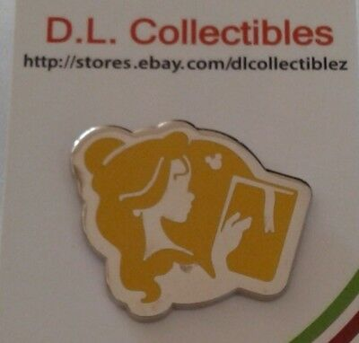 Disney Beauty and the Beast Hidden Mickey princess silhouette Belle Pin
