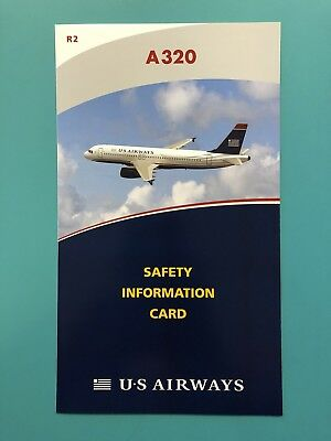 Us Airways Safety Card--Airbus 320