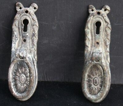 A Pair of Edwardian? Plated Cupboard/ Cabinet  Handles