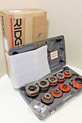 RIDGID PIPE THREADER SET 12R DIES w/ BRAND NEW CASE,  *100% TESTED*