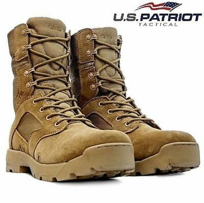 Mens Army Combat Patrol Tactical Cadet Military Police Security Ankle Work Boots