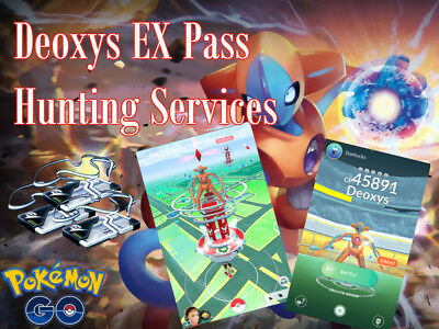 Deoxys EX Raid Hunting/Catching Services Pokemon Go
