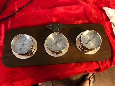 Vintage~Springfield Instrument~Weather Station~Thermometer Barometer Humidity