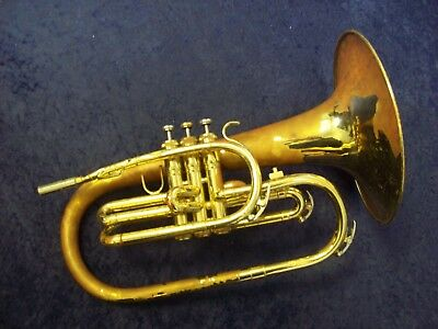 King 1120 U.s.a. Marching Mellophone + King Case