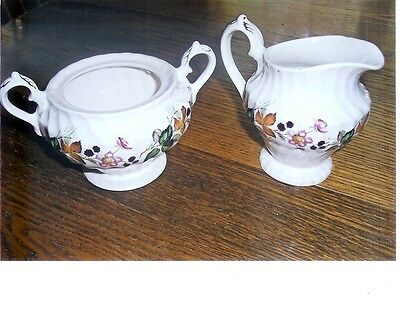Myott Staffordshire Hedgerow Creamer And Sugar