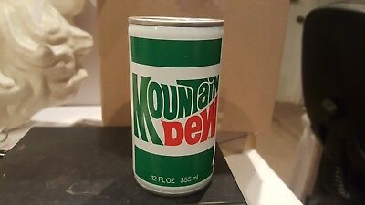 Vintage Mountain Dew  label Soda pop can Sealed Air Filled  RARE!!!