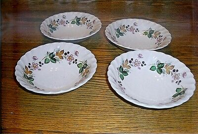 4 Myott Staffordshire Hedgerow Cereal Bowls