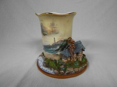 "Thomas Kinkade ~ Welcoming Lights Collection ~ ""Light of Peace"" ~ Candle Cottage"