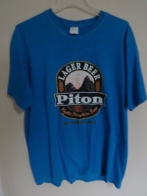 a33ccaa5ebe7a Piton Beer Saint Lucia W.I. Brewery Beer Lager Graphic Printed T-Shirt Men  XL