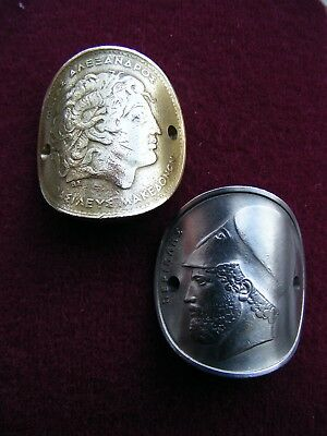 Walking Stick Badge Pair, Alexander The Great And Pericles
