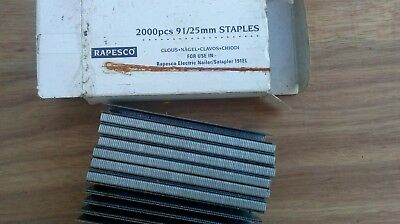 91/25mm Staples RAPESCO. Power, nailers / staplers. Part box. Approximately 1600