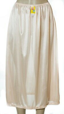 "31"" Length Women Plain Long Half Slip Ladies 100% Polyester S M L XL 2X 3X 995"
