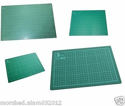 A2 A3 A4 or A5 Cutting Mat Non Slip Printed Grid Lines Knife Board Crafts Liner