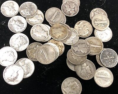 Whole Sale Lot!!!!! Old Us Silver Dime Lot!!!! Old Us Coins Pre 1964! Has To Go!