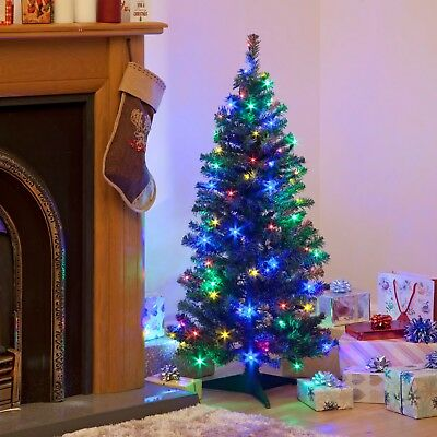 1.5M Pre Lit Artificial Christmas Tree With LED Fairy Lights Xmas Decoration 5FT