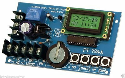 Altronix PT724A Timer, 365 Day Weekly 24 Hour Annual Event, 1 Channel 12V 24V