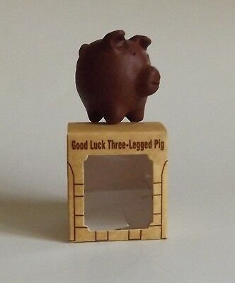 "Ceramic Pig Rustic Decorative Figure New Hand Made 2"" X 2"""
