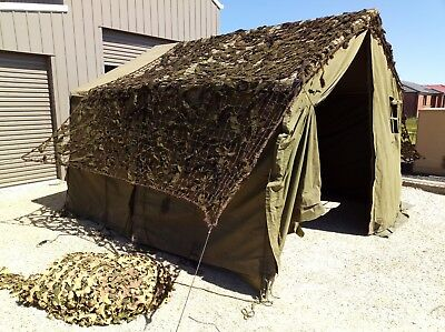 Compete ex Military 11x11  Tent and 2x Cam Nets
