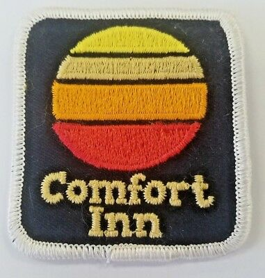 Vintage Retro Square Comfort Inn Patch Iron On Hipster Motel Hotel Collectible