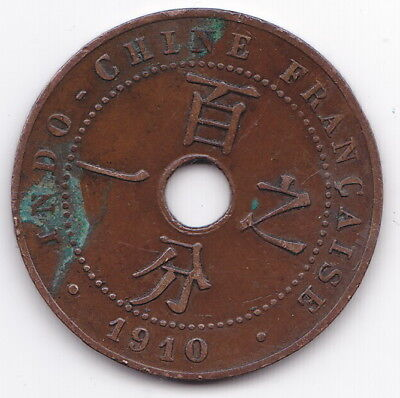 1910 Indo Chine Francaise 1 Cent A