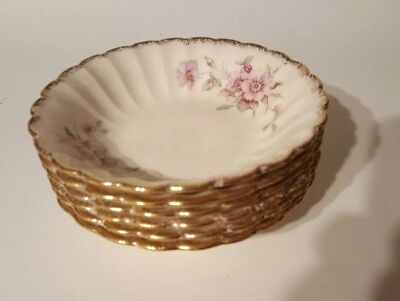 *Set of 6 - berry bowlsGolden Ware by Sebring USA Wild Rose