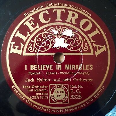 Jack Hylton and his Band - I believe in miracles - Electrola Schellackplatte...