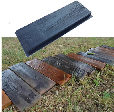 1PC Simulation of wood grain Wooden Boards Concrete Stone Mould Garden Stepping