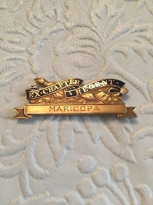 Daughters Of The American Revolution DAR Ex-Chapter Regent Pin Maricopa 1918