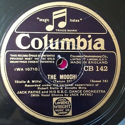 Jack Payne and BBC Danceorchestra - The Mooch! / My heart belongs to the girl -