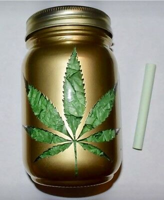 Glass Stash Jar Airtight Storage Container -Large