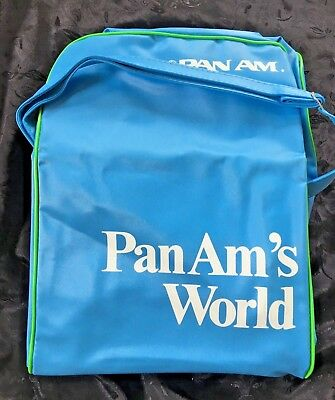 Vintage Pan Am Blur Carry On Tote Bag Authentic Stewardess Luggage