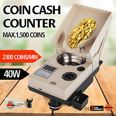 C500 HEAVY DUTY COIN COUNTER/OFF-SORTER MACHINE w/ 2 YEAR WARRANTY
