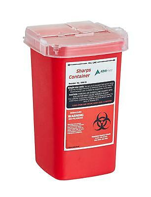 AdirMed Sharps and Needle Bio-hazard Disposal Container 1 Quart - 1 Pack