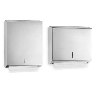 Alpine Stainless Steel C-Fold Multifold Lockable Paper Towel Dispenser