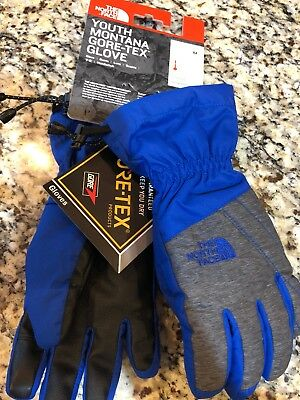 New The North Face Youth Montana Gore-Tex Gloves Boys Size Medium Heat Seeker