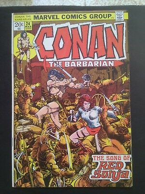 Conan the Barbarian #24 March 1973 VF1st full Red Sonja last Barry Windsor Smith