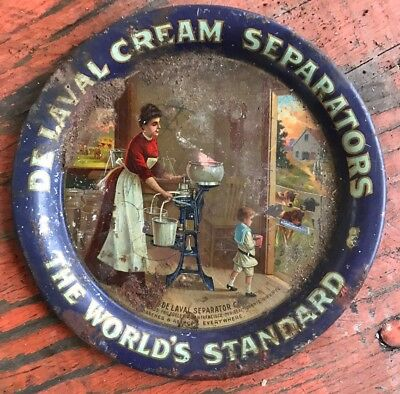 DeLaval Cream Seperator Tip Advertising Tray Antique Old