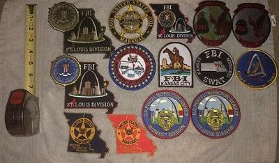 Federal Missouri Police Patch Lot FBI ATF GMAN KCMO STL Cardinals USMS SWAT SRT