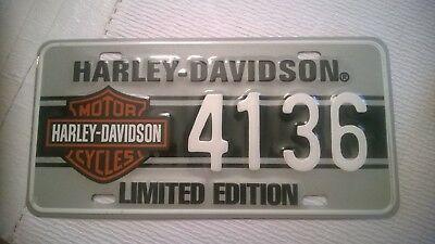 Official Harley Davidson Limited Edition License Plate
