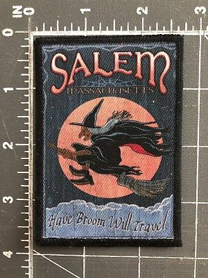 Salem Massachusetts MA Witch Trials Patch Have Broom Will Travel Wicca Pagan