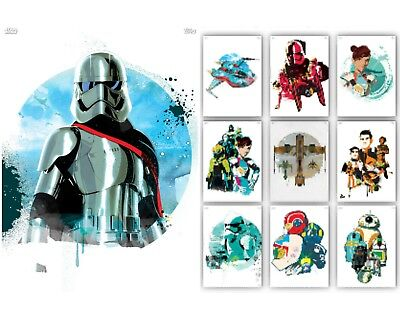 Resistance Posters-White-9 Card Set+Meld-Topps Star Wars Card Trader