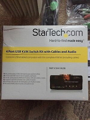 StarTech.com SV411KUSB 2 Port USB KVM Switch W/ Audio and Cables
